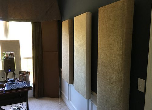 First wall of panels